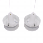 Cone shaped Danish pendants
