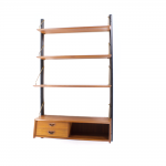 Mid-century wall unit by Louis Teeffelen for Wébé