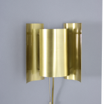 Vintage brass wall lamp by Falkenberg
