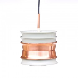 White / copper Dijkstra pendant