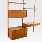 Danish teak wall-unit