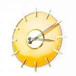 Orange Brass Clock